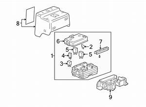 Buick Rainier Fuse Box Cover  Upper   Fuse Block-instrument Panel  Pewter