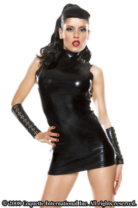 wet  mock neck dress