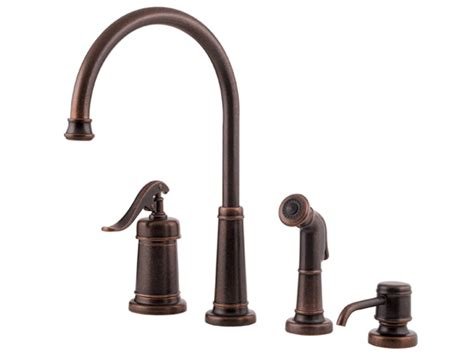 Pfister Ashfield-handle Kitchen Faucet-rustic Bronze