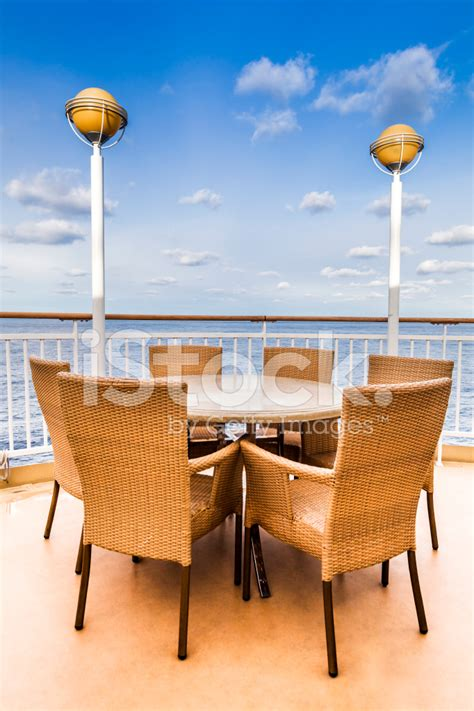 table and chairs in cruise ship stock photos freeimages