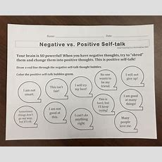 Positive Thoughts In First And Second Grades  School Counseling In Love Hall