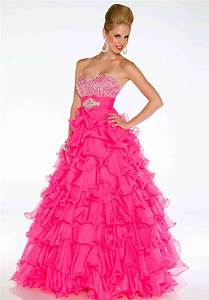 Hot pink prom dresses iris gown for Pink homecoming dresses