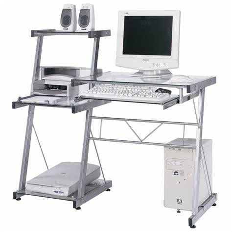 bureau informatique verre galaxy matelpro gris transparent tous les produits mobilier de