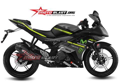 lagi modif striping yamaha r15 movistar black edition motoblast