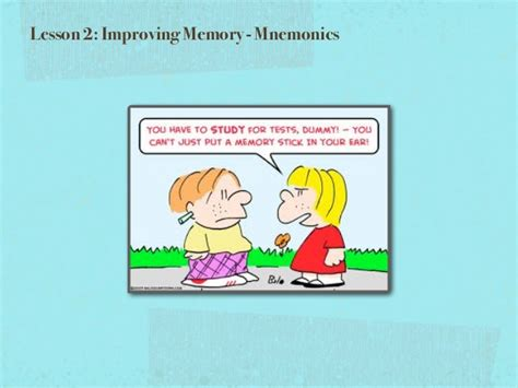 Lesson 2 Improving Memory 2015