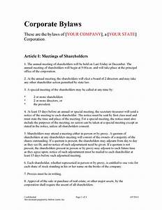 stunning bylaws template pictures inspiration resume With s corp bylaws template