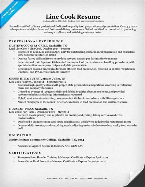 line cook resume images download cv letter and format sle letter