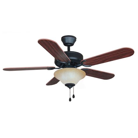 rubbed bronze 42 quot ceiling fan w light kit