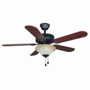 Oil rubbed bronze quot ceiling fan w light kit