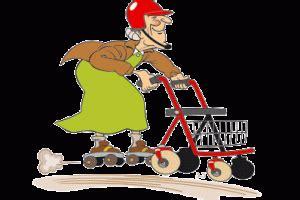 rentner mit rollator clipart  clipart station