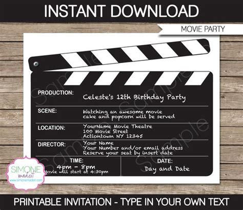 invitation template  night birthday party