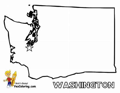 Coloring Map Pages Washington State Maps States