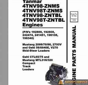 Yanmar Operation  U0026 Maintenance Manual  Service Manual  Wiring Diagrams Parts Catalog Cd