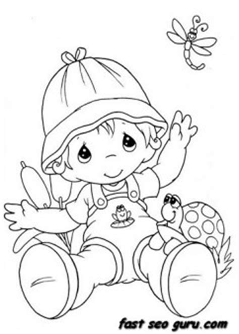 summer  boy playing  insect coloring pages  printable coloring pages  kids
