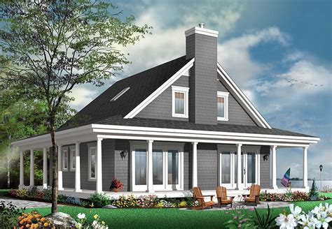 bedroom country house plan  wrap  porch dr architectural designs house plans