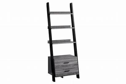 Ladder Bookcase Grey Drawers Storage Monarch Gardner