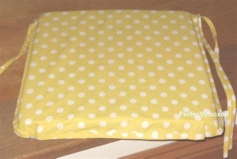 yellow polka dot seat pads at www perfectlyboxed