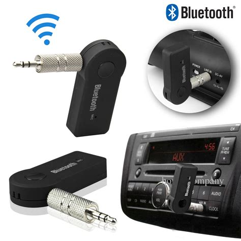wireless bluetooth mm aux audio stereo  car receiver adapter ebay