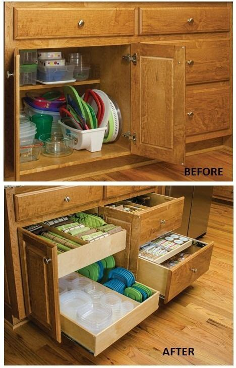 cabinet kitchen storage organize food storage containers pull out cabinet 1927