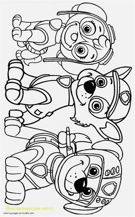 Paw Patrol Coloring Pages Paw Patrol Free Coloring Pages