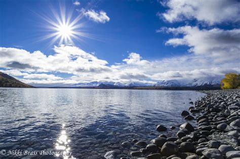 Lake Tekapo Lake Tekapo New Zealand Winter Sun View