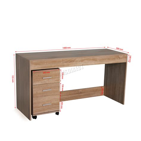 sur la table westwood westwood computer desk pc table with 3 drawers home office