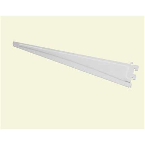 closetmaid shelftrack bracket closetmaid shelftrack 20 in x 5 in white bracket 2855