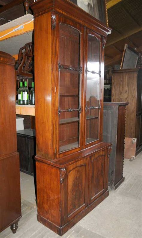 Bookcases With Cabinets by William Iv Mahogany Glazed Bookcase Cabinet Bookcases