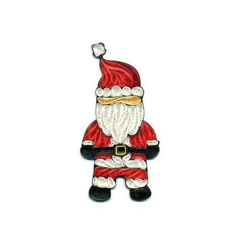 santa claus father christmas quilled xmas quilling