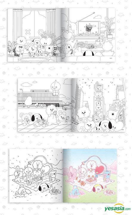 yesasia bt coloring book celebrity giftsmale stars