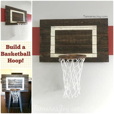 diy basketball hoop   boys bedroom tamaras joy