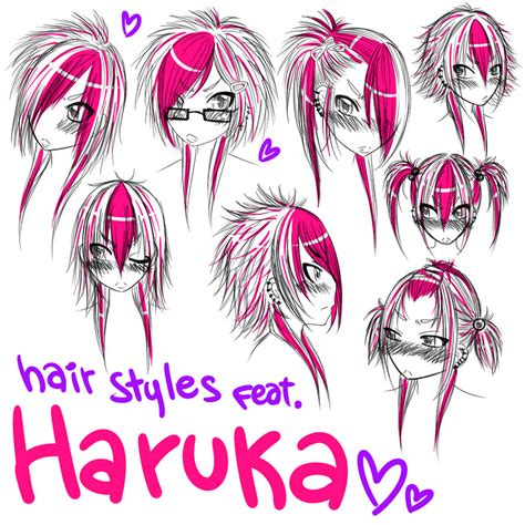 cool anime hairstyles hair