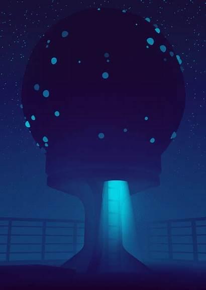 Fi Gifs Sci Monochromatic Animations Burton Artist