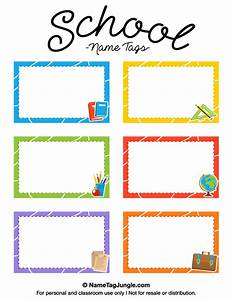 printable school name tags With name labels for letters