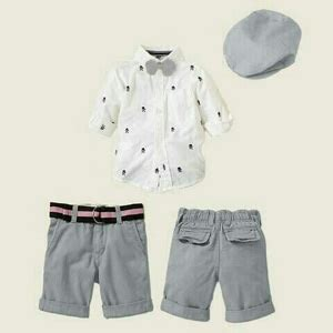setelan baju kemeja dasi topi dan celana anak laki laki keren terbaru modern ryn fashion