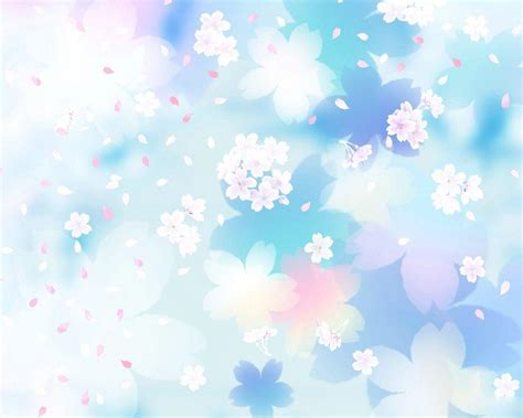 Blue Cherry Blossom Wallpaper Pretty Blue Backgrounds Wallpaper Cave