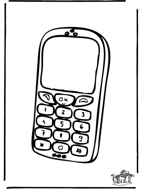 Coloring Mobil by Cell Phone Coloring Page Coloring Home