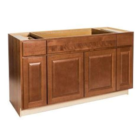 home depot kitchen sink base cabinets hton bay assembled 60x34 5x24 in sink base 8402