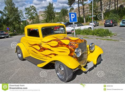classic american cars ford hot rod  editorial