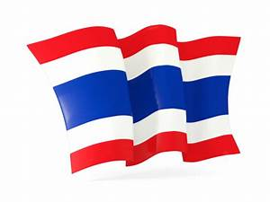 Waving flag. Illustration of flag of Thailand