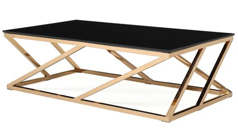 rose gold table l modern rose gold and black glass geo coffee table zuri