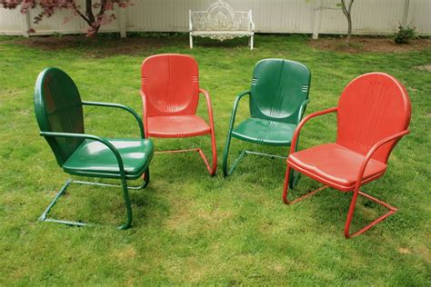Vintage Metal Patio Chairs For Sale Style