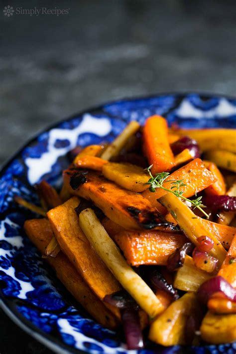 cider roasted root vegetables simplyrecipescom