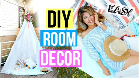 diy room decor  easy summer fort youtube
