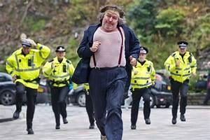 British man running away from police : photoshopbattles