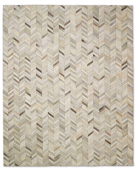8x10 Cowhide Rug by Chevron Cowhide Rug Sand