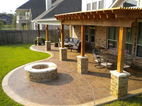 sted concrete patio future home ideas