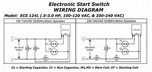Electronic Motor Start Switch Ecs124l