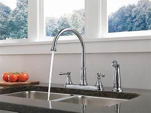 Delta, Faucet, 2497lf, Cassidy, Two, Handle, Kitchen, Faucet, With, Spray