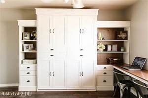 Ana White Modern Farmhouse Murphy Bed and Bookcase